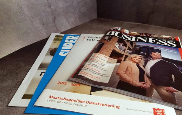Diverse folders voor verschillende bedrijven in Nederland