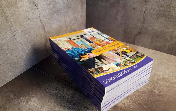 Alpha scholengroep -Schoolgidsen drukken en ontwerp
