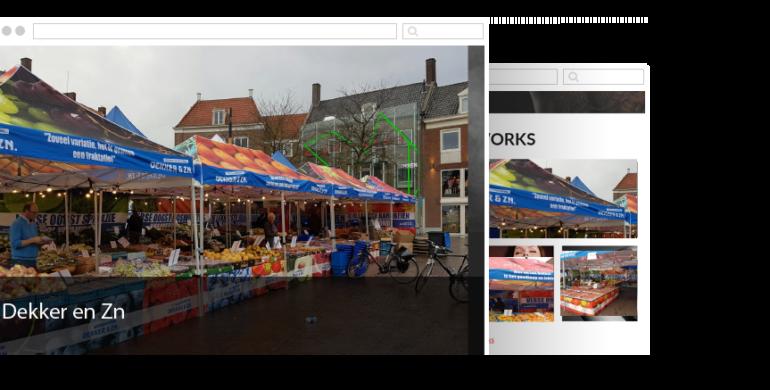 Nieuwe marktkramen voor Dekker en Zn.